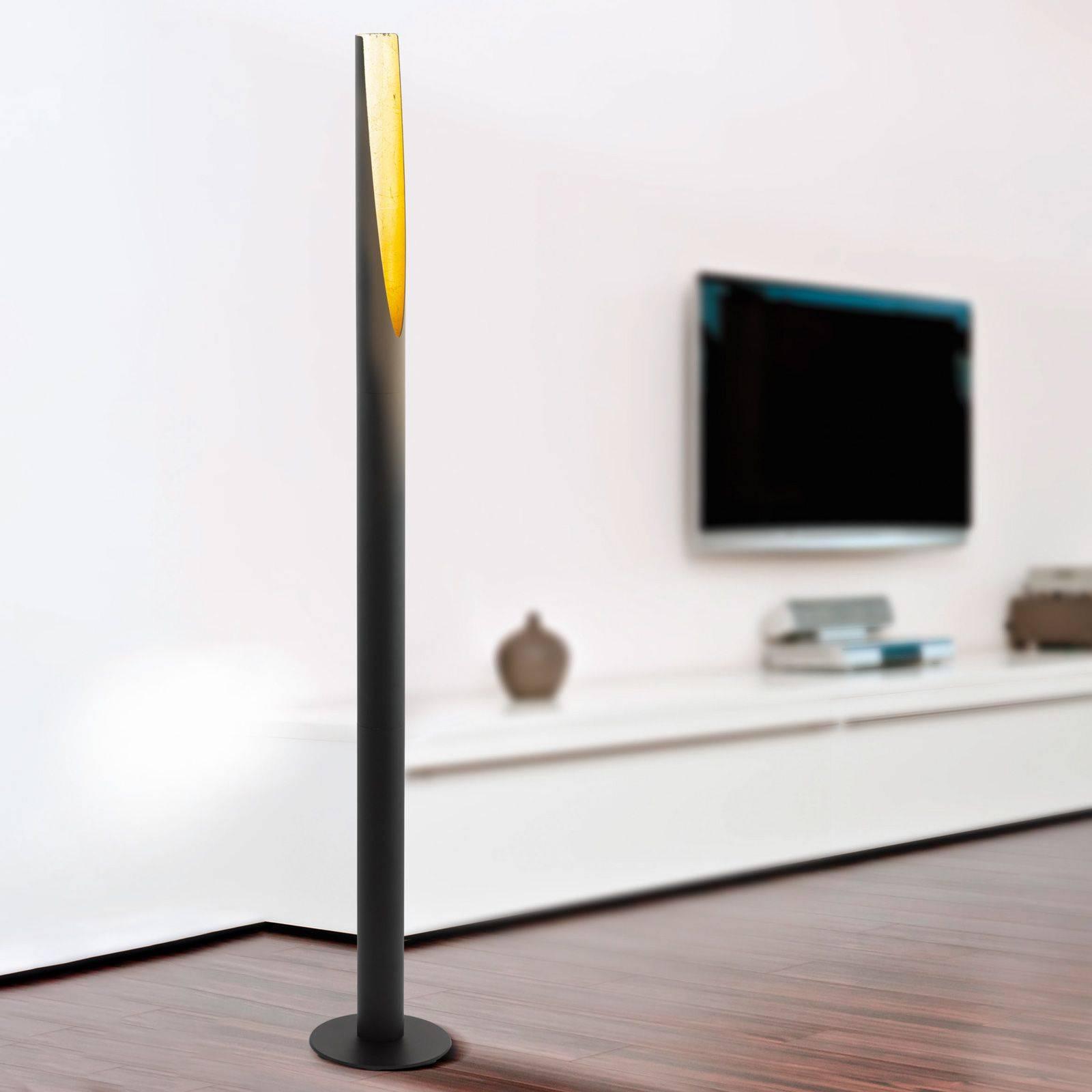 Lampa stojąca LED Barbotto, czarno-złota