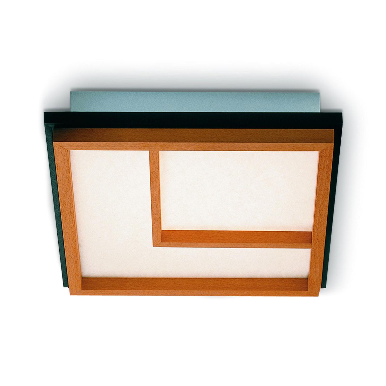 Plafonnier LED Kioto 2 en bois de hêtre