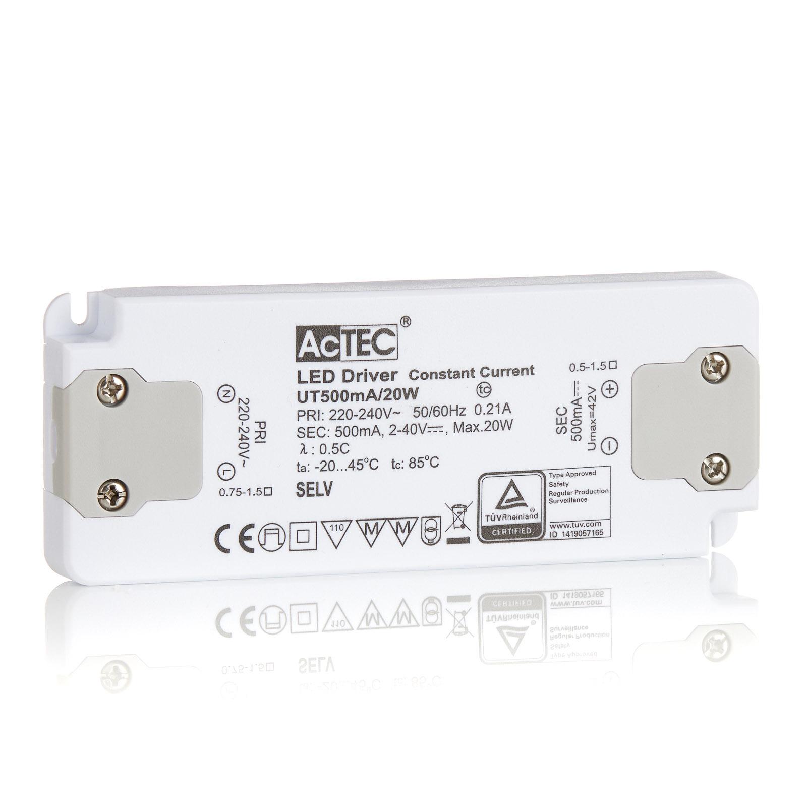 AcTEC Slim LED-Treiber CC 500mA, 20W