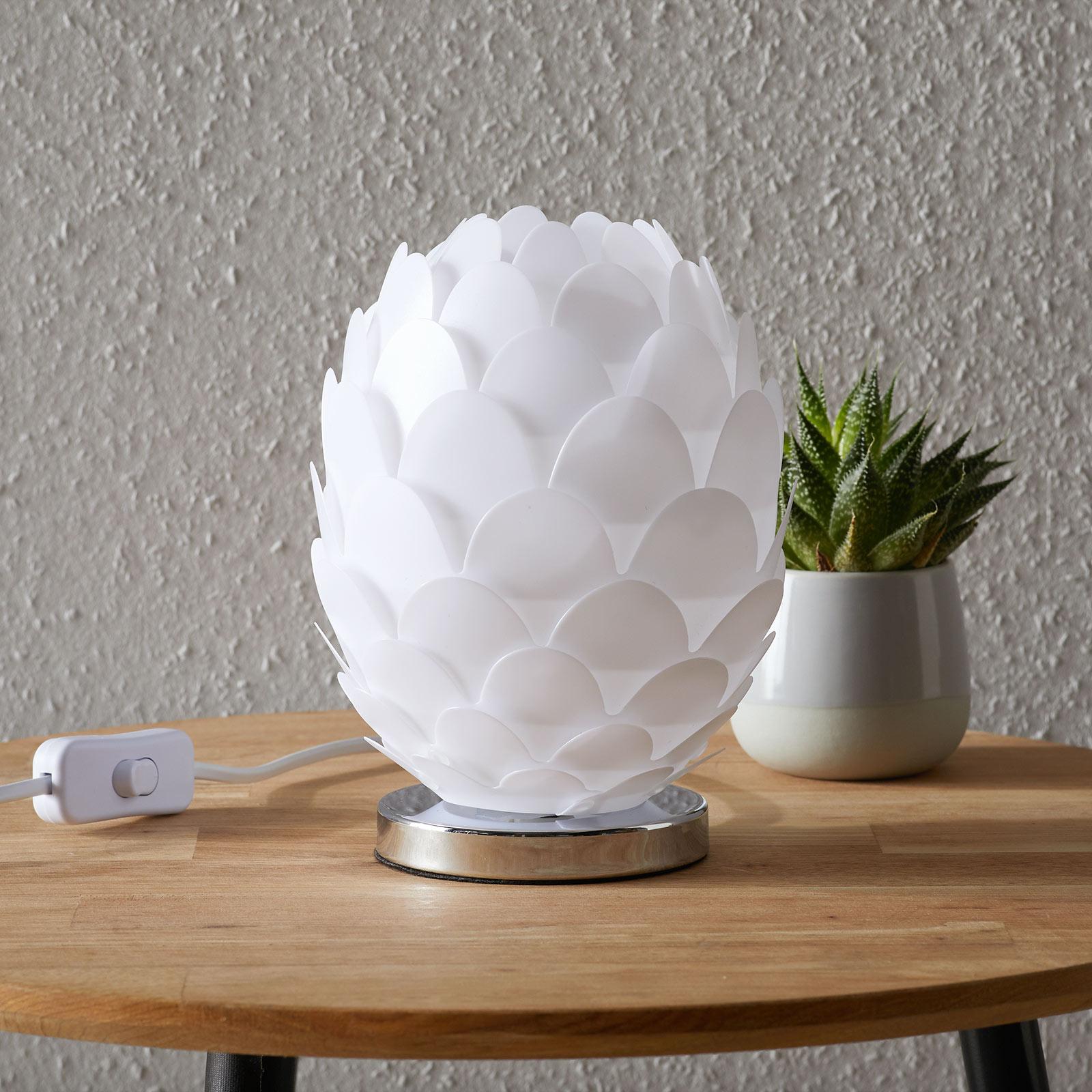 Pöytävalaisin Marees, valkoinen, Ø 15 cm
