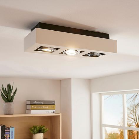 Vince - lampada LED da soffitto bianca a 3 luci
