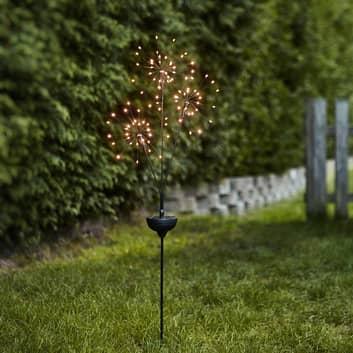 LED-Solarleuchte Firework mit Erdspieß dreiflammig