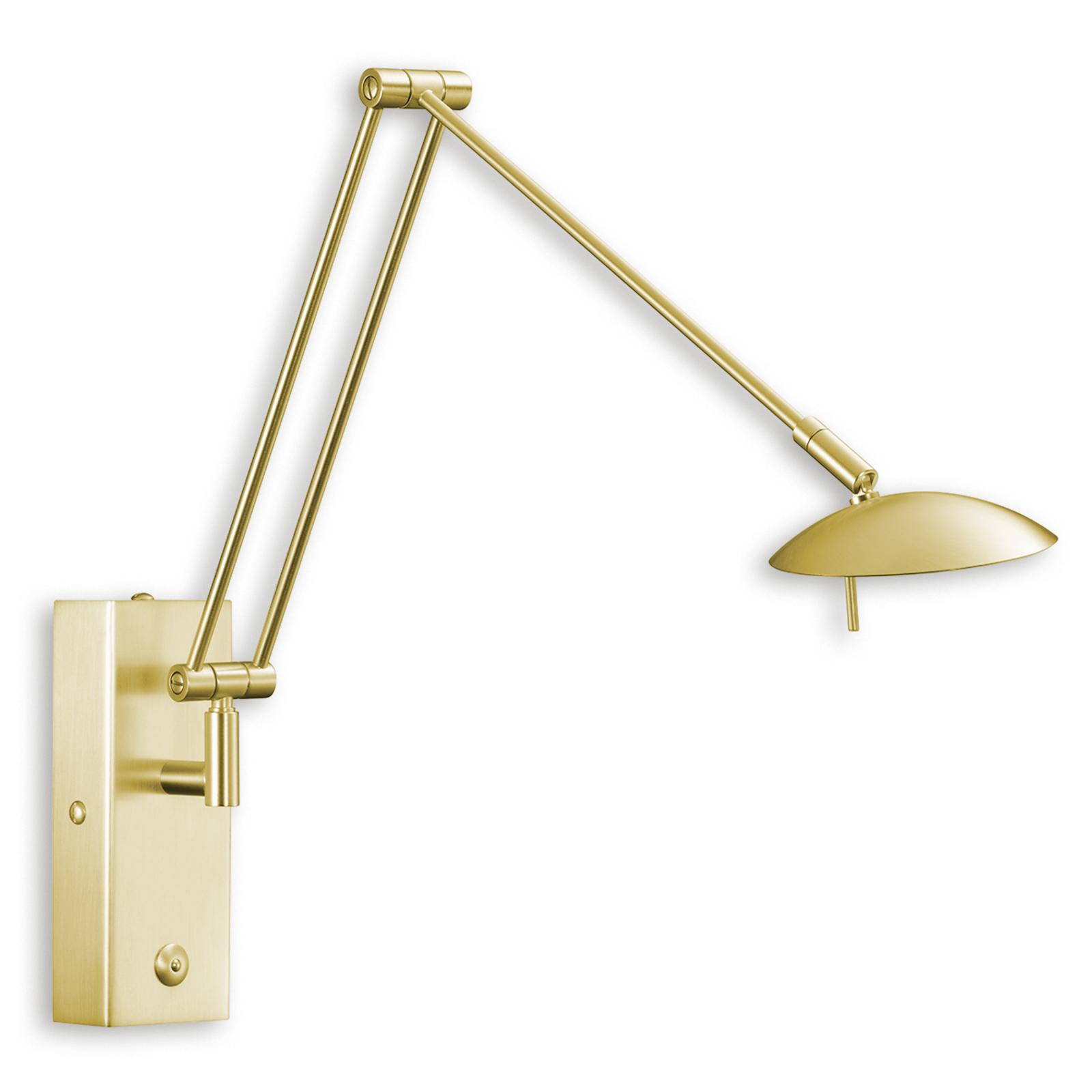Fleksibel LED-vegglampe LINK matt messing