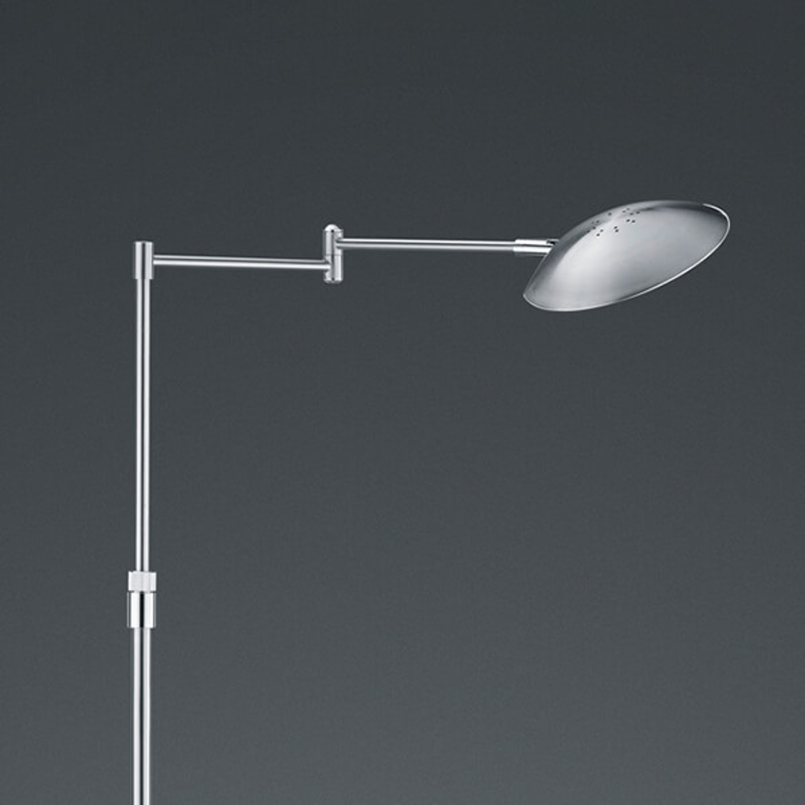 LED-Stehleuchte Calcio, verstellbar, nickel matt