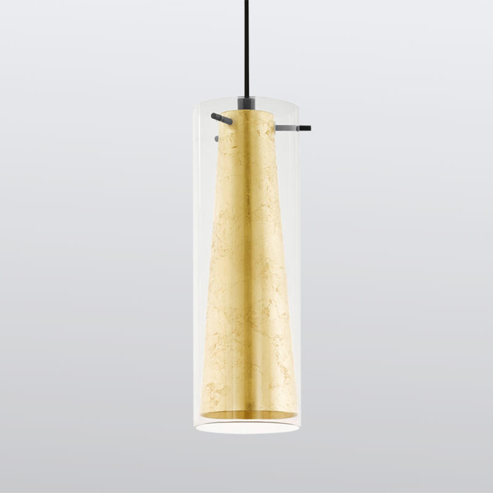 Lampa wisząca Pinto Gold 1-punktowa