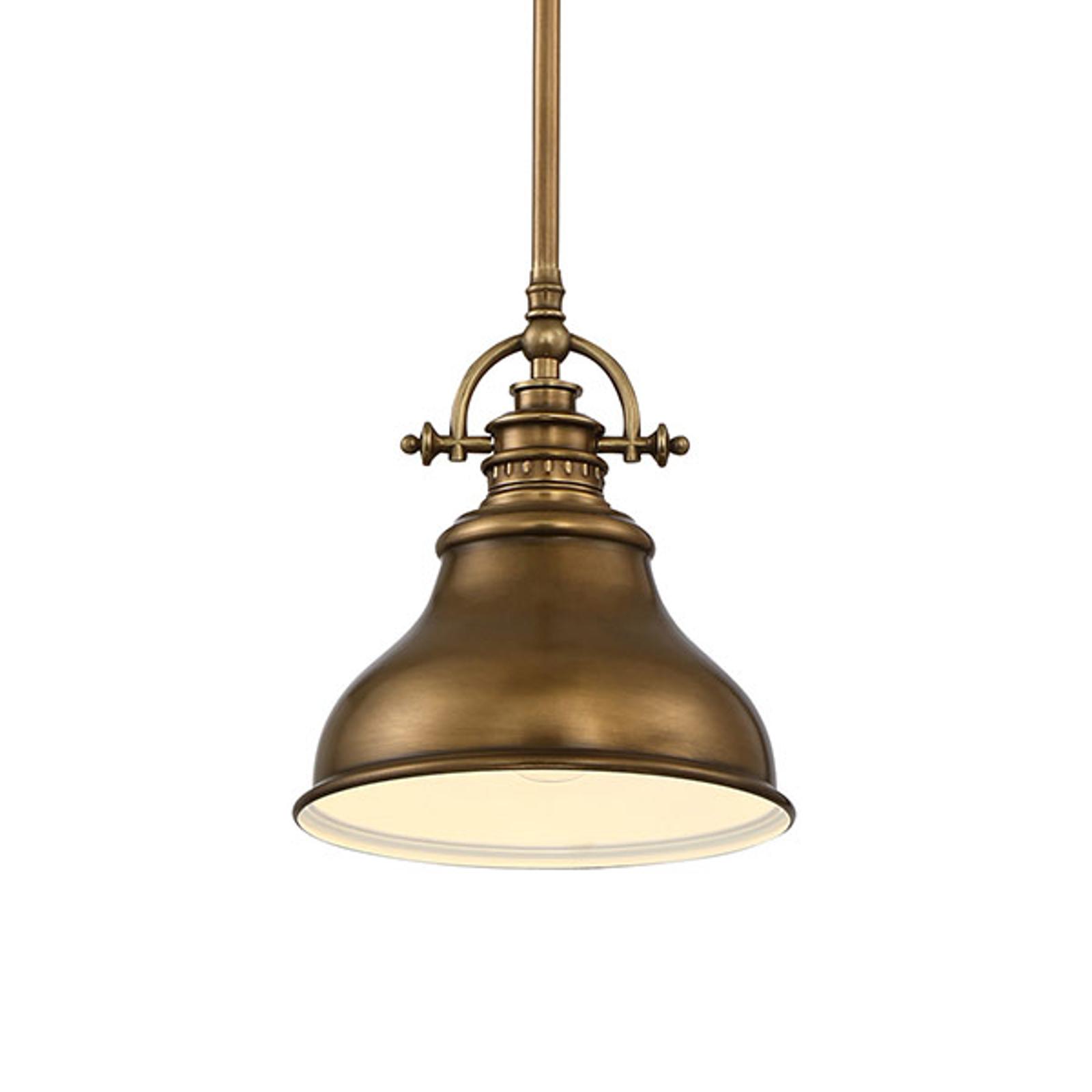 Lampada a sospensione Emery 1 luce ottone Ø20,3 cm