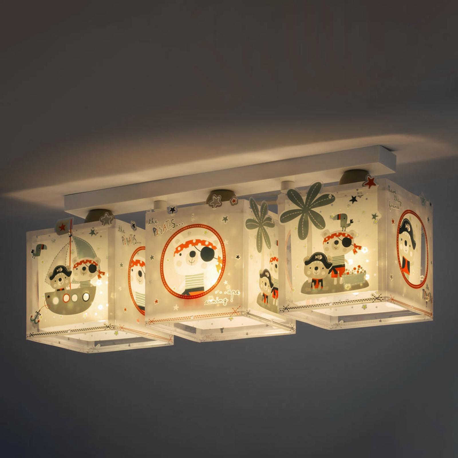 3-punktowa lampa sufitowa Pirates dla dzieci