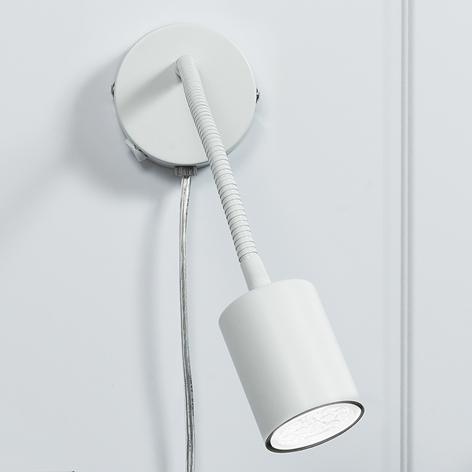 Explore – zginany spot ścienny LED, biały