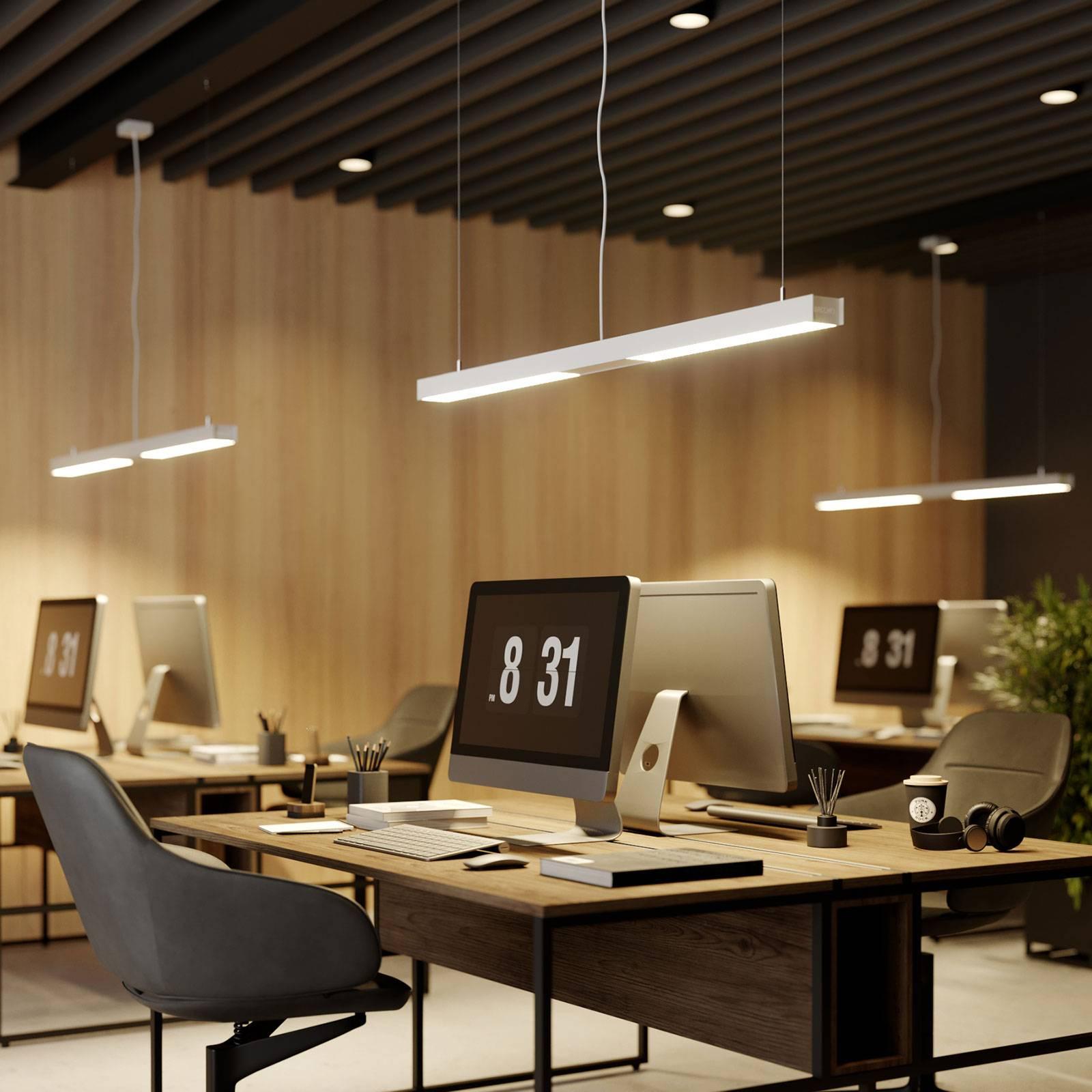 Arcchio Rontan LED kantoor hanglamp, wit