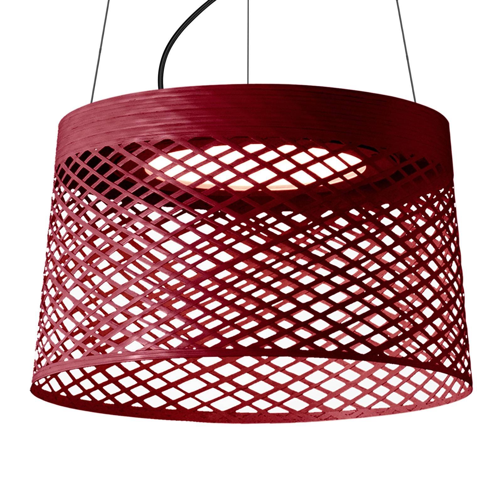 Foscarini Twiggy Grid sospensione LED, carminio