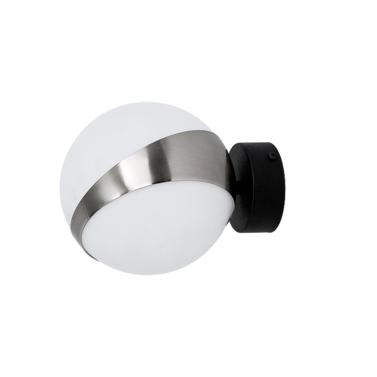 Vegglampe Parcel, hvit/sølv