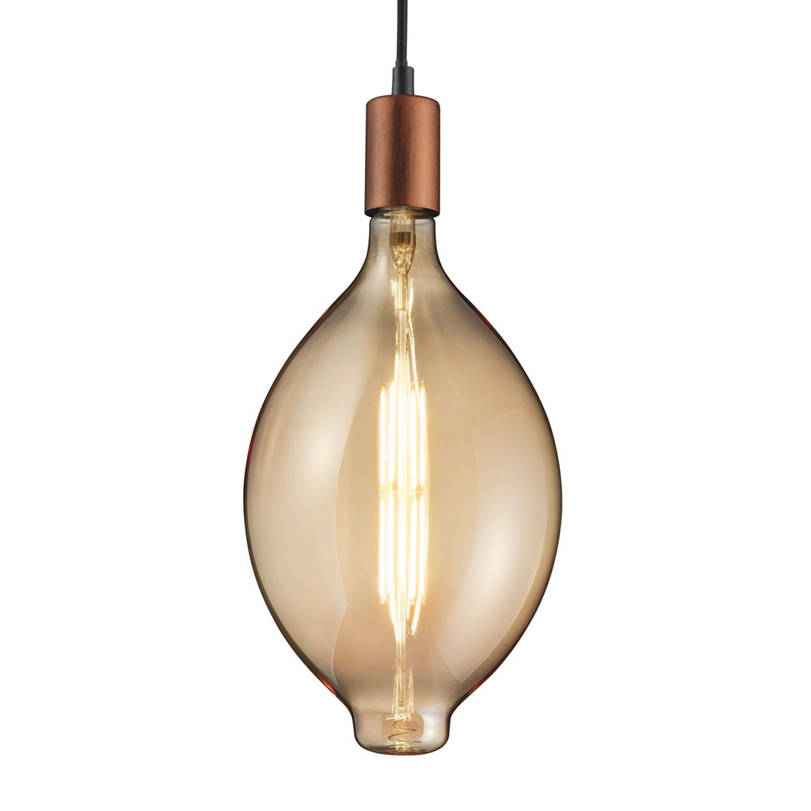 LED-Lampe E27 8W 2.700K lange Form amber