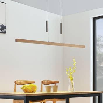 LED závěsné trámové světlo Tamlin, buk