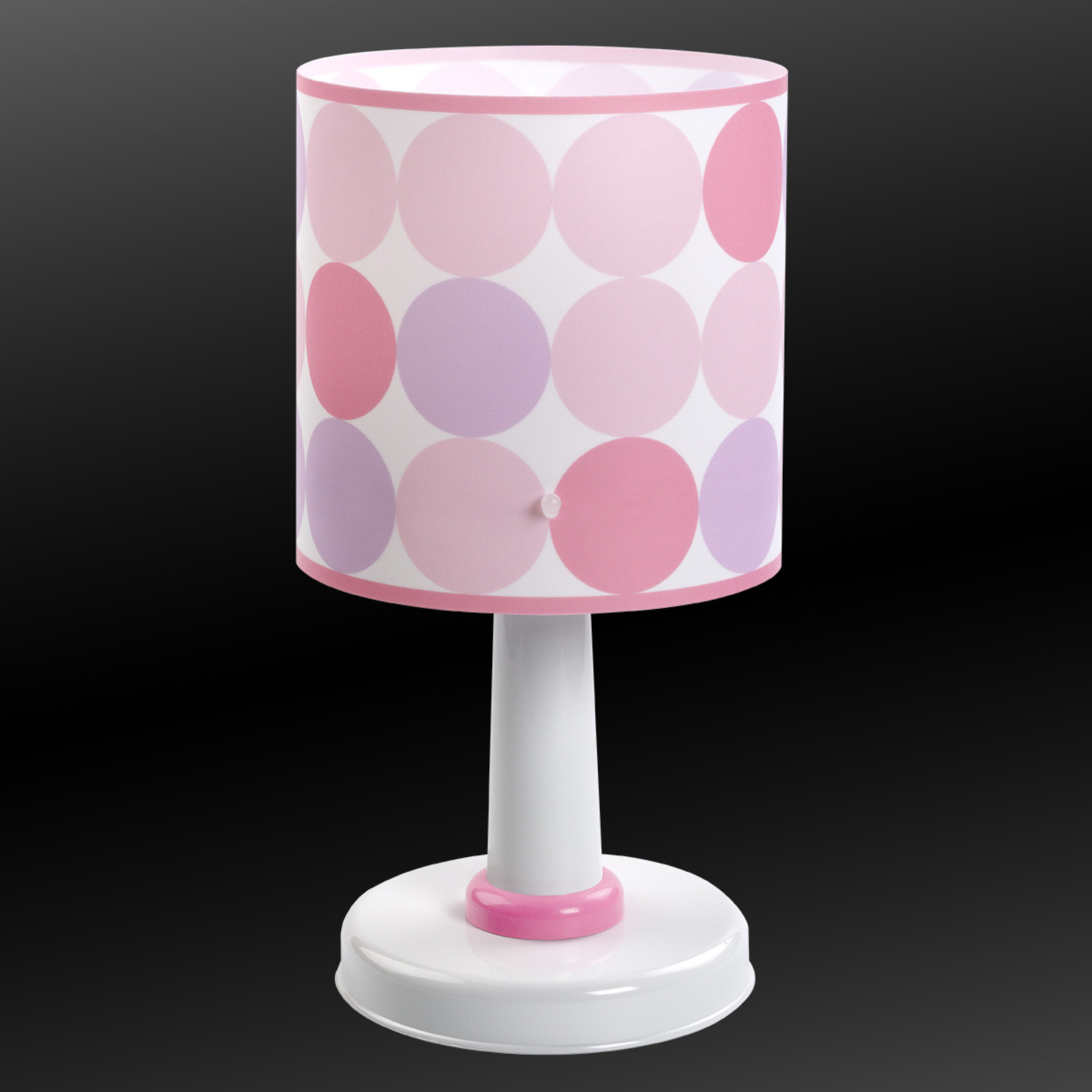 Colors - prikket bordlampe i rosa