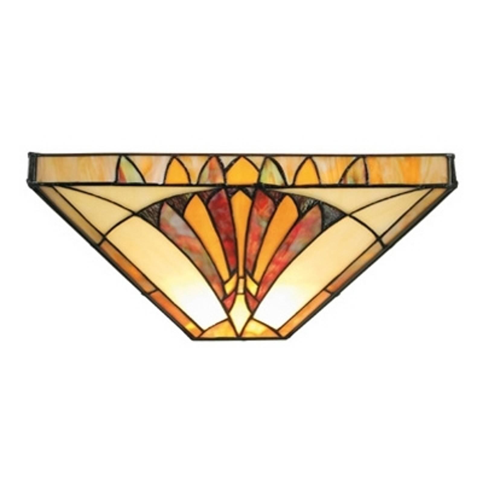 Effectieve wandlamp AMALIA in Tiffany-stijl