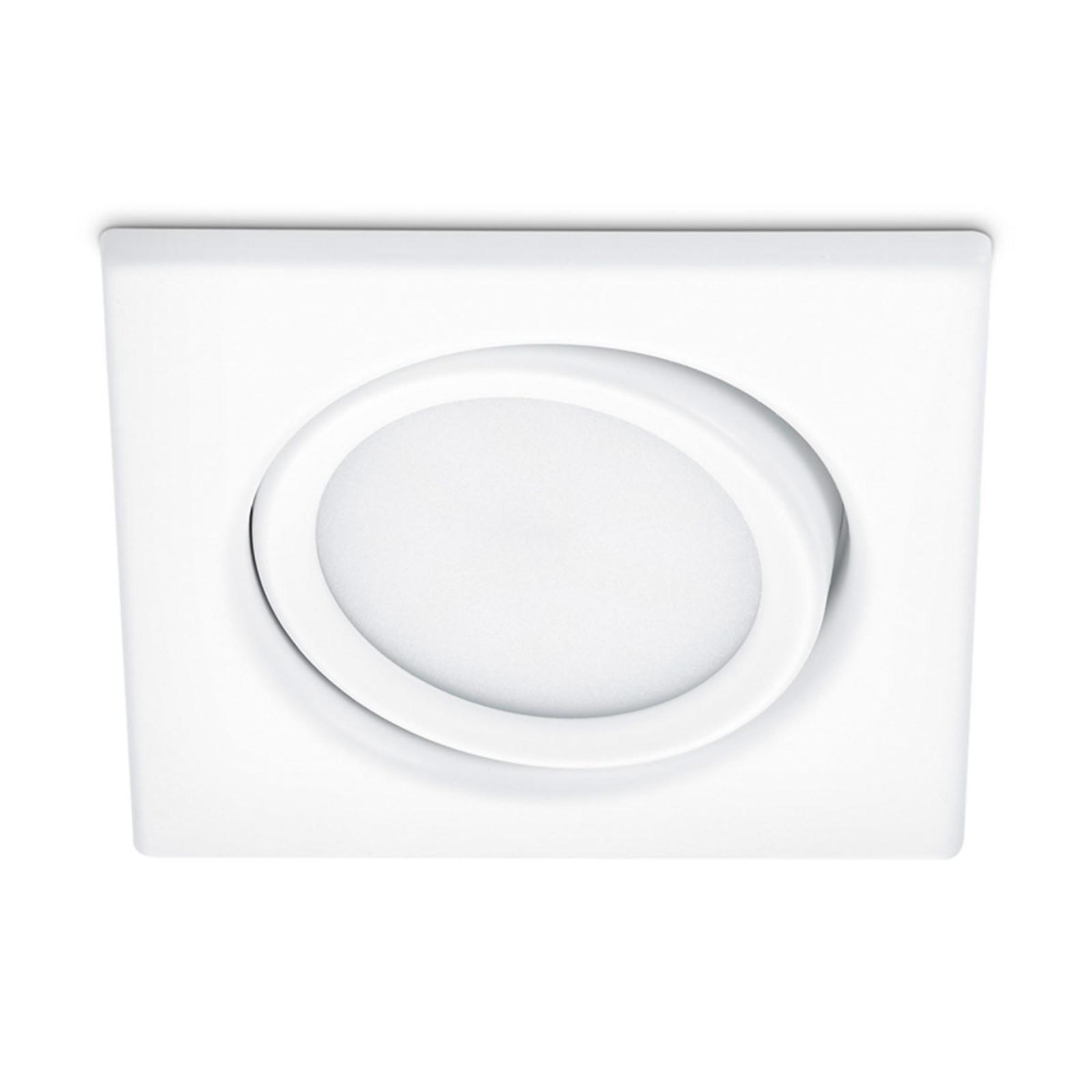 Schwenkbarer LED-Einbaustrahler Rila in Weiß
