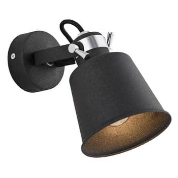 Nástěnný reflektor Kerava, jeden zdroj, černý