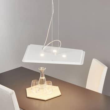 Moderne LED-Hängeleuchte Fuorisquadra, weiß