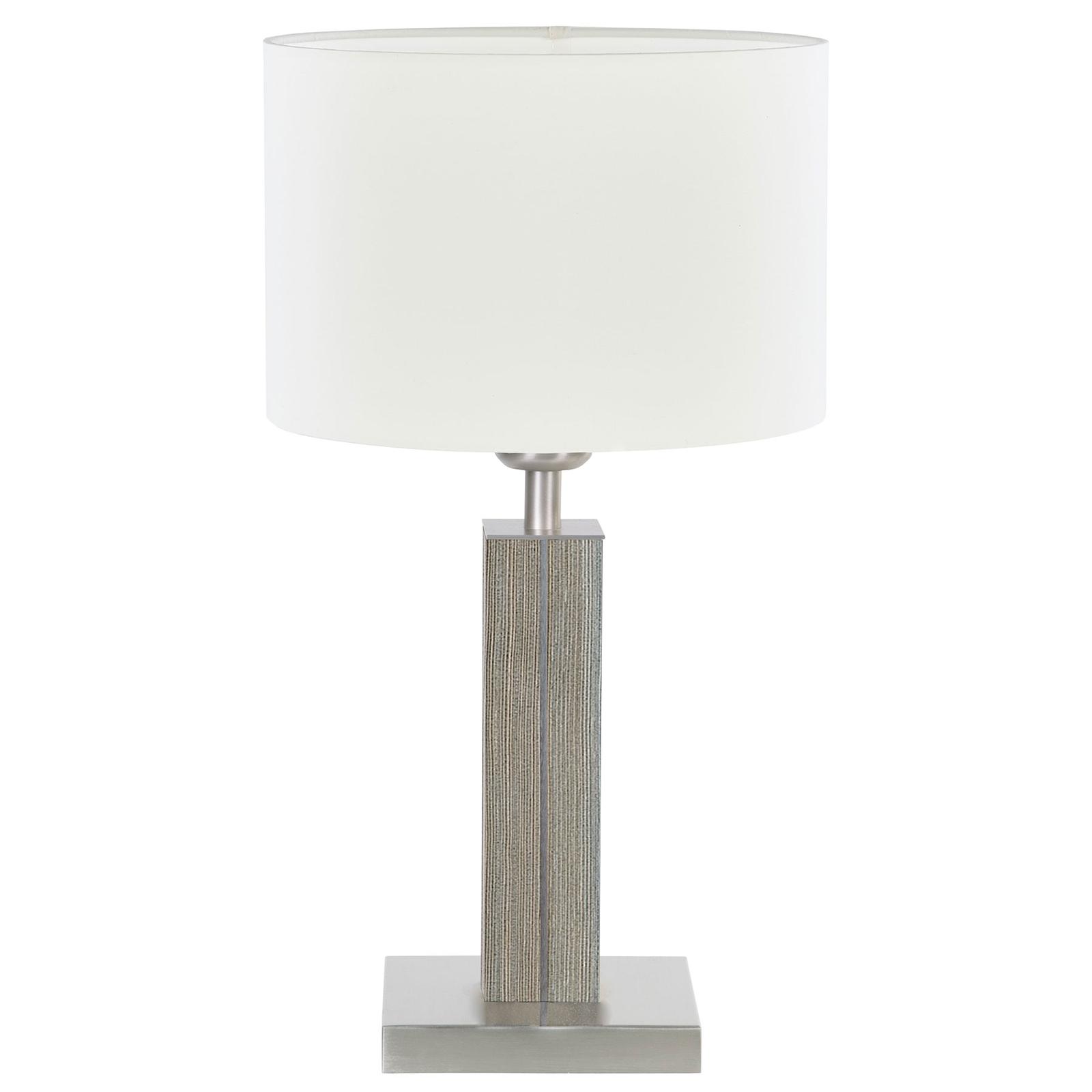 HerzBlut Dana lampa stołowa, świerk, biała, 45cm