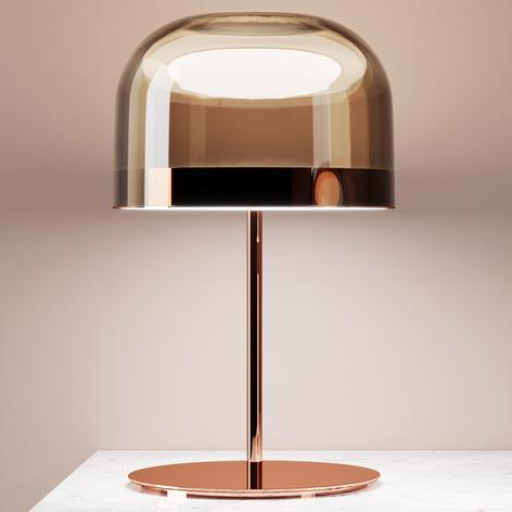 Lámpara de mesa LED Equatore, cobre, 60 cm