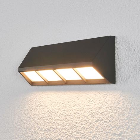 LED-Außenwandlampe Cedrick in Dunkelgrau, 30 cm