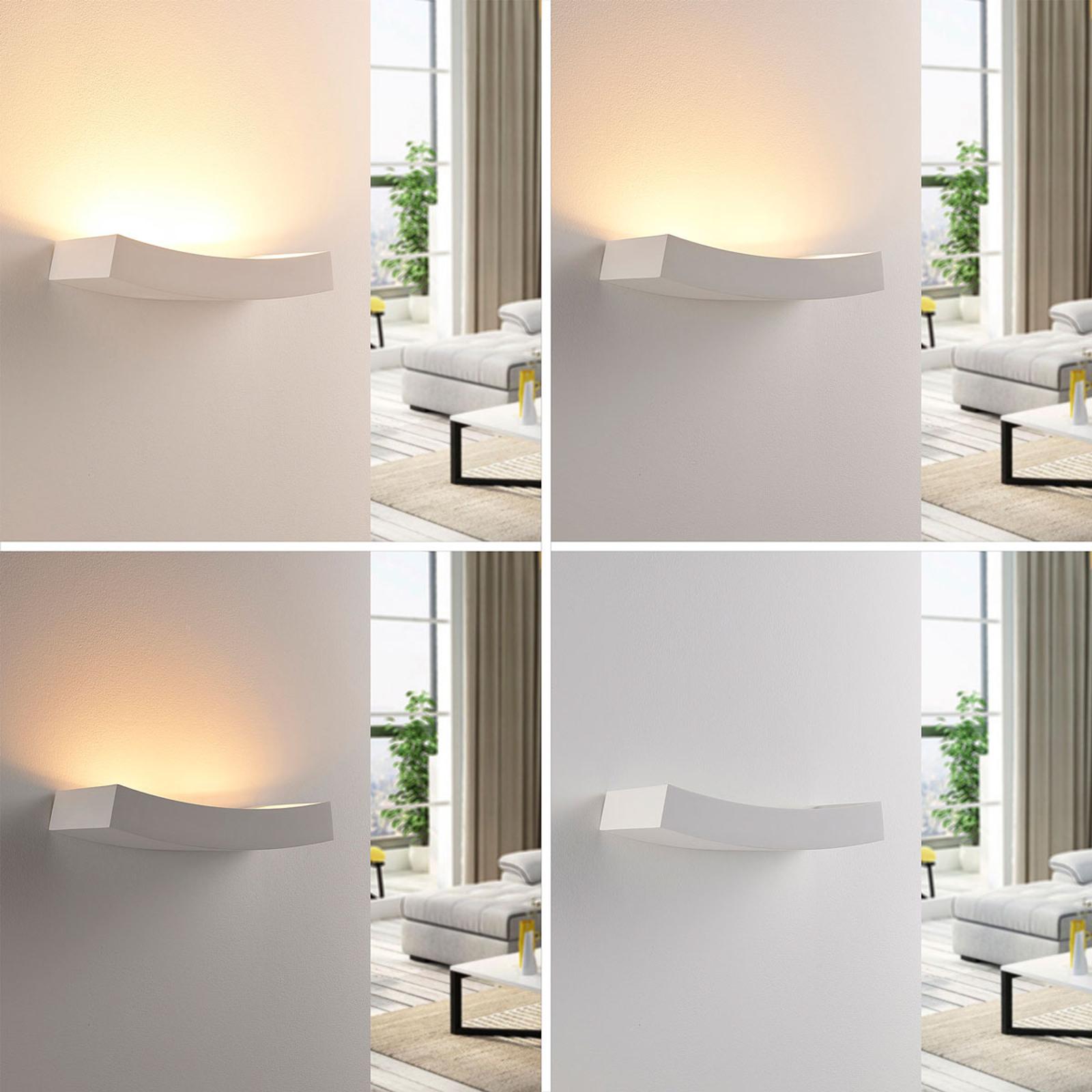 Applique LED Tiara en plâtre, lampe G9 dimmable