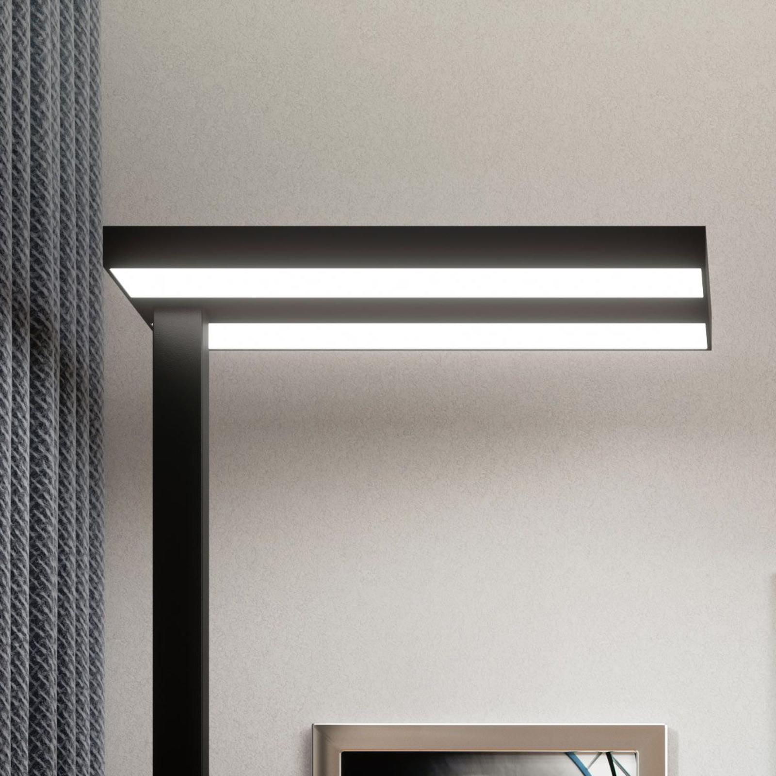 Lampada da pavimento LED da ufficio Logan nera