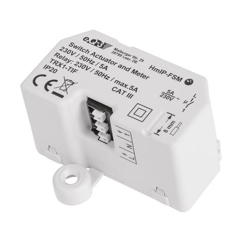Homematic IP-bryter-måler-akt. innfelt boks, m. 5A