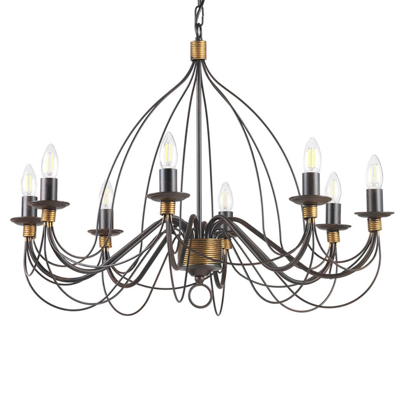 Lustre Fiamma Marrone 8 lampes sans abat-jour