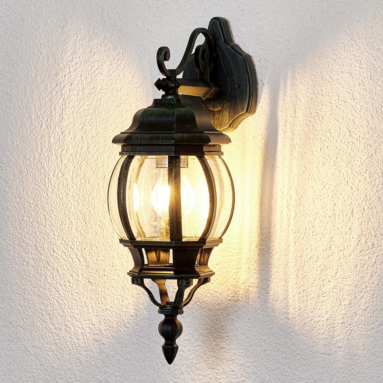 Udendørs væglampe Theodor i antikt look