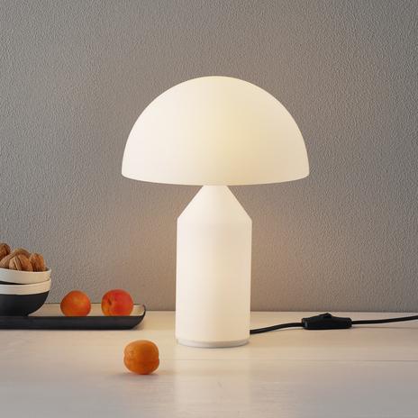 Oluce Atollo - lampa stołowa ze szkła Murano, 35cm