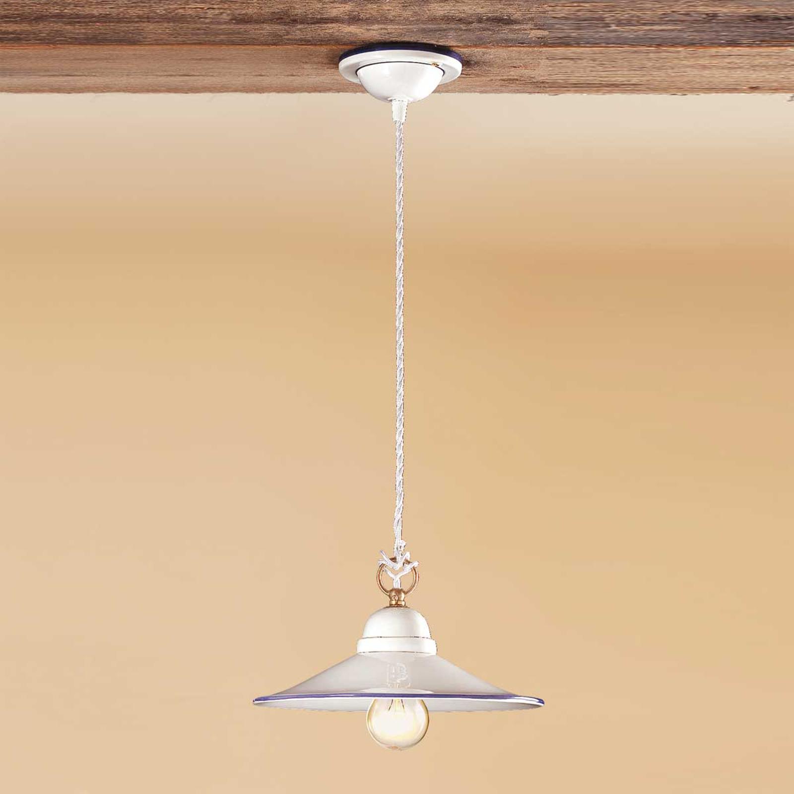 Smuk hængelampe PIATTO i keramik,