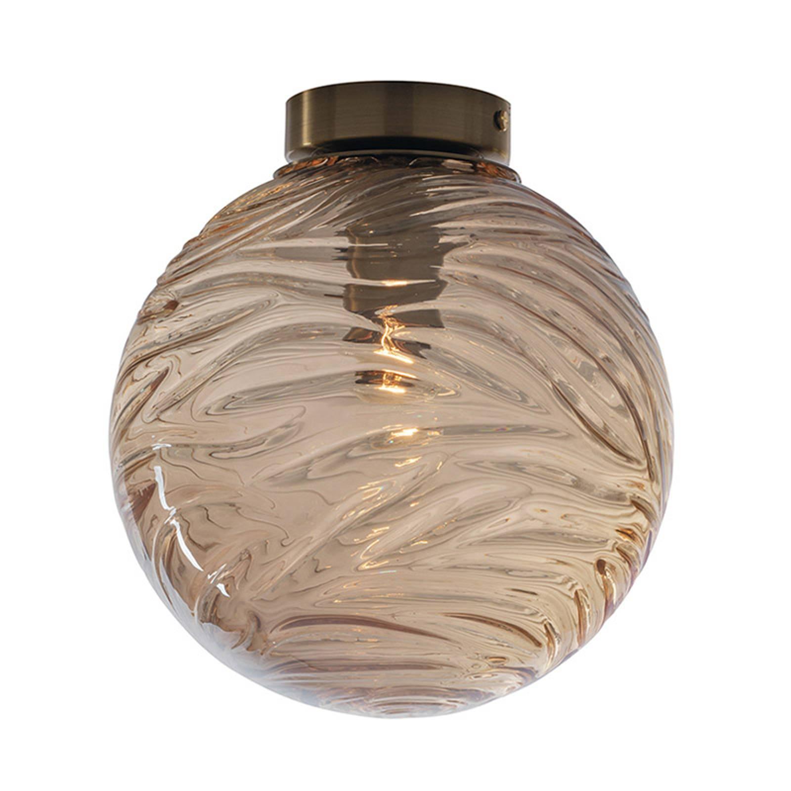 Deckenleuchte Nereide, Glas bronze