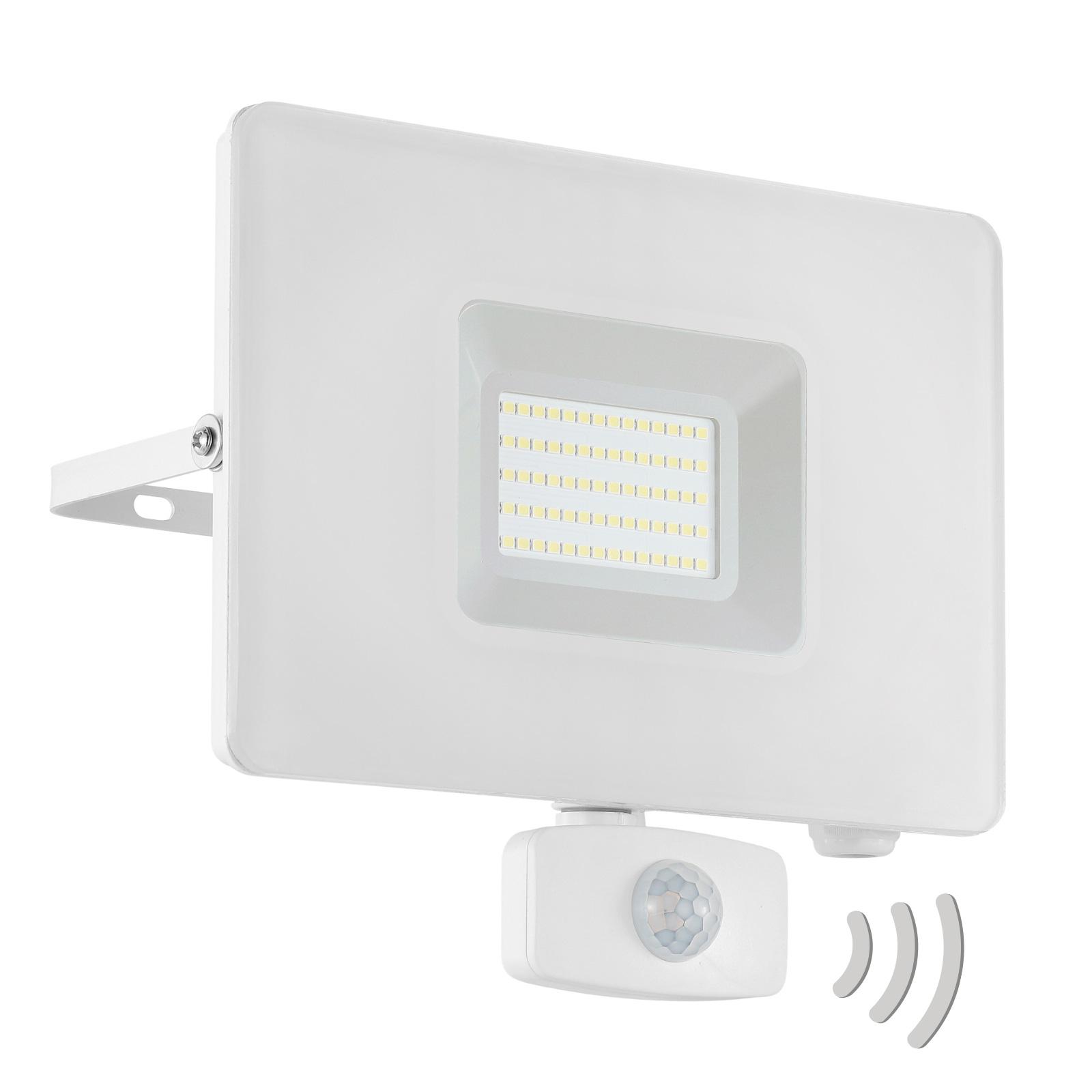 LED buitenspot Faedo 3 met sensor, wit, 50W