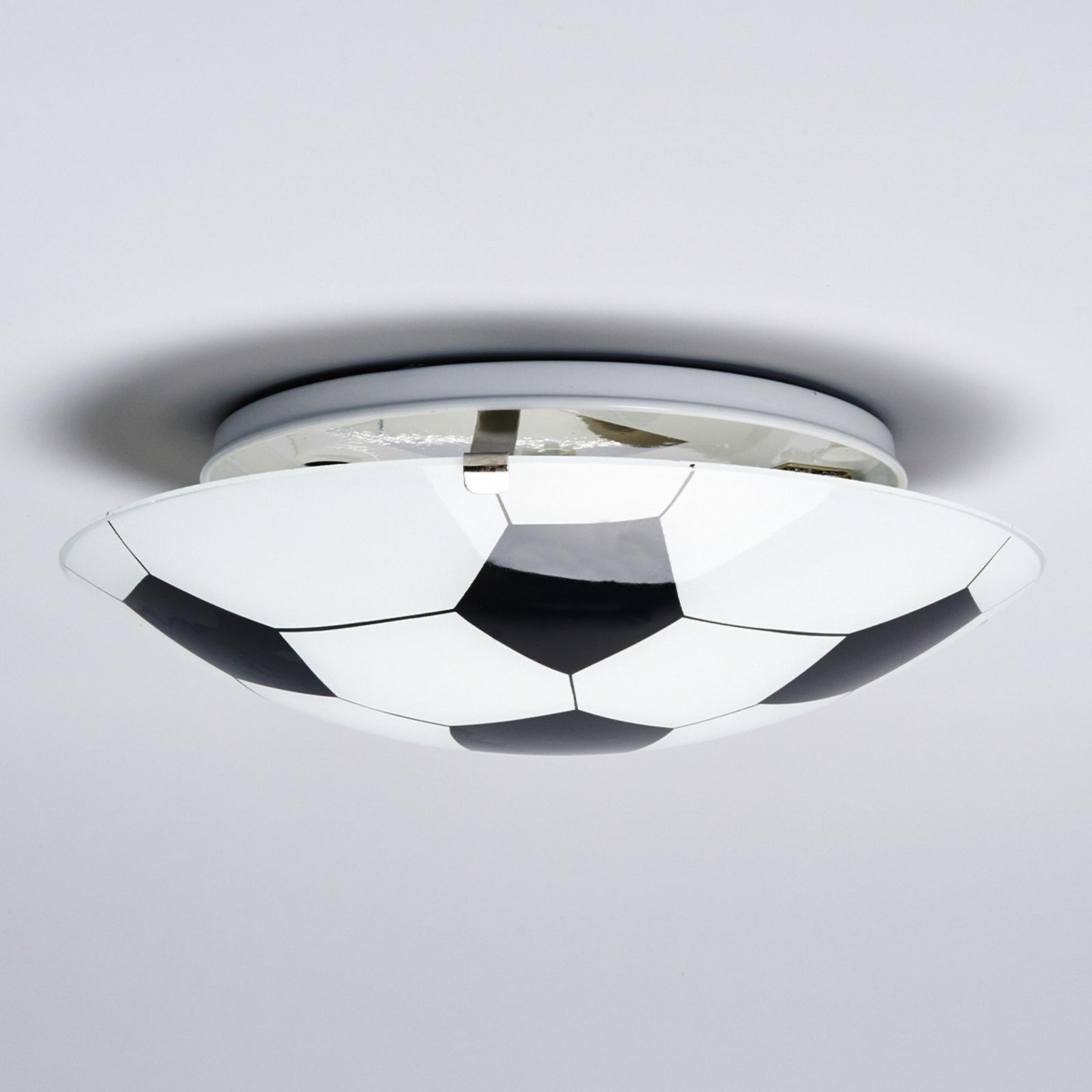 Svartvit taklampa fotboll