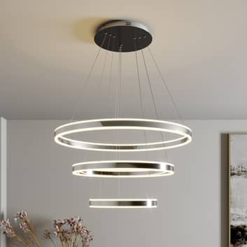 LED-Pendellampe Lyani, 3 Ringe untereinander