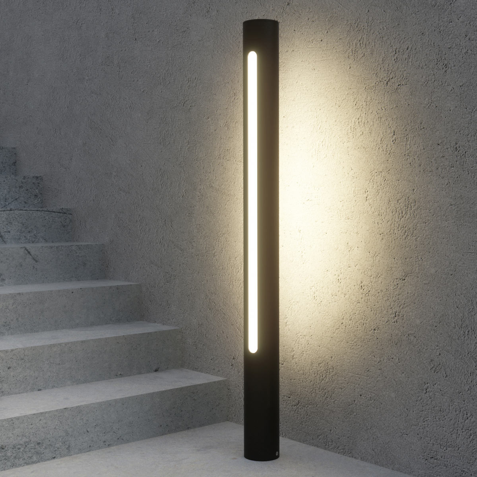 Ciemnoszary słupek oświetleniowy LED Tomas