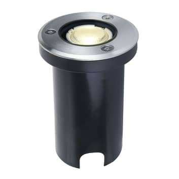 Lampada pavimento Kenan, a LED IP67, acciaio inox