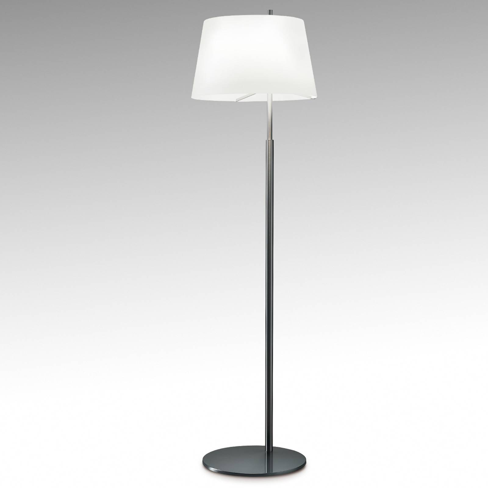 Design-vloerlamp Passion Fontana Arte, nikkel
