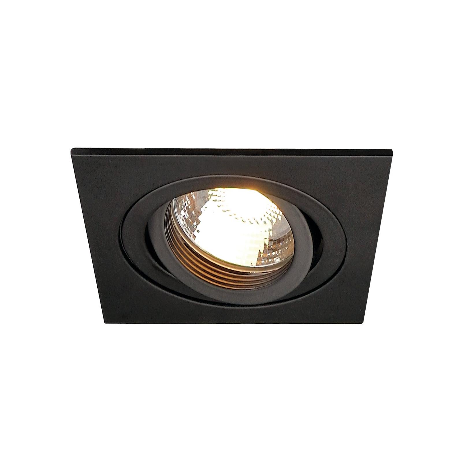 SLV New Tria 1 recessed spotlight GU10, black_5511305_1