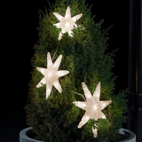 LED-Lichterkette Sterne 3-teilig