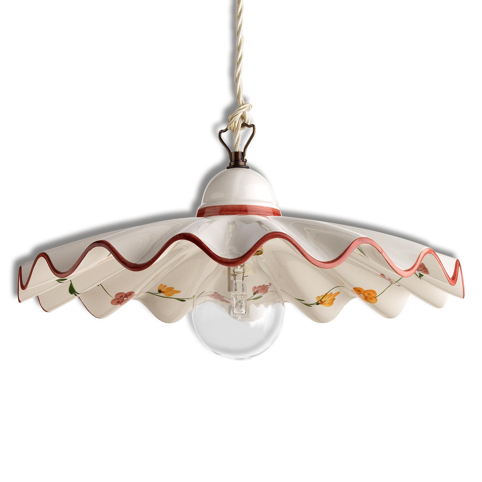 Hængelampe i keramik Ametista m. kædeophæng