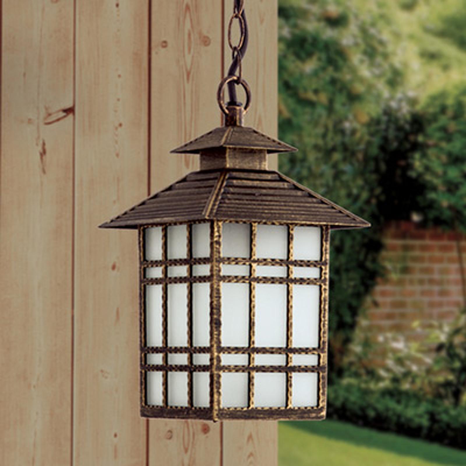 Tradycyjna lampa wisząca zewnętrzna Ilka, łańcuch