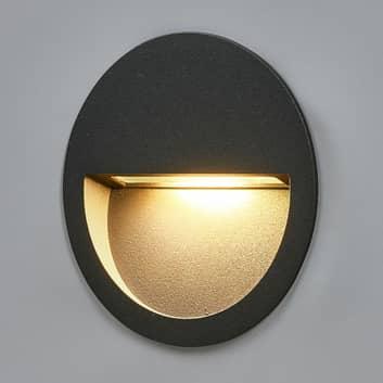 Rund LED-væglampe Loya til indbygning