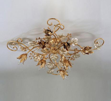 Duża lampa sufitowa MARIAN, matowy złoty