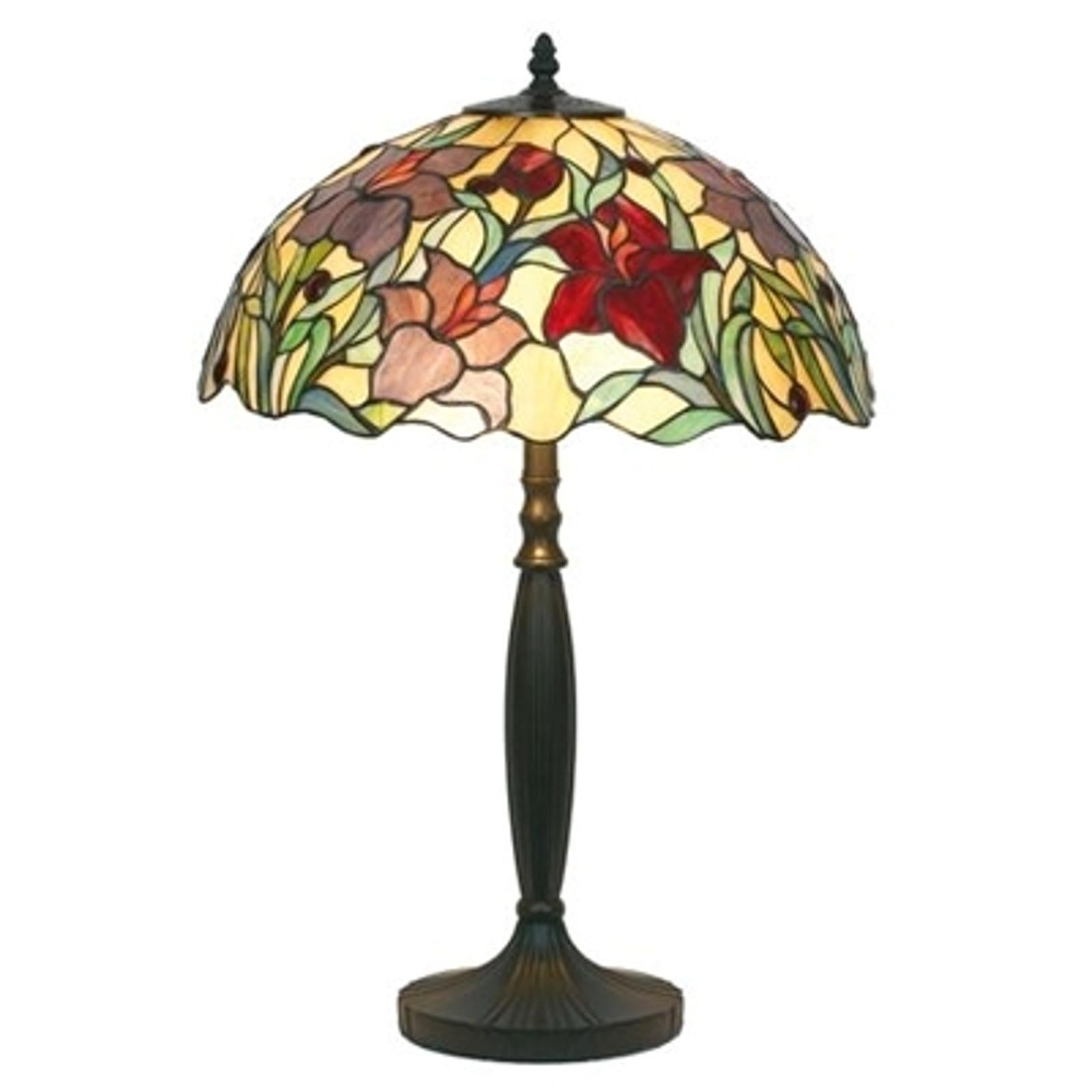 Blomstermönstrad bordslampa ATHINA 62cm