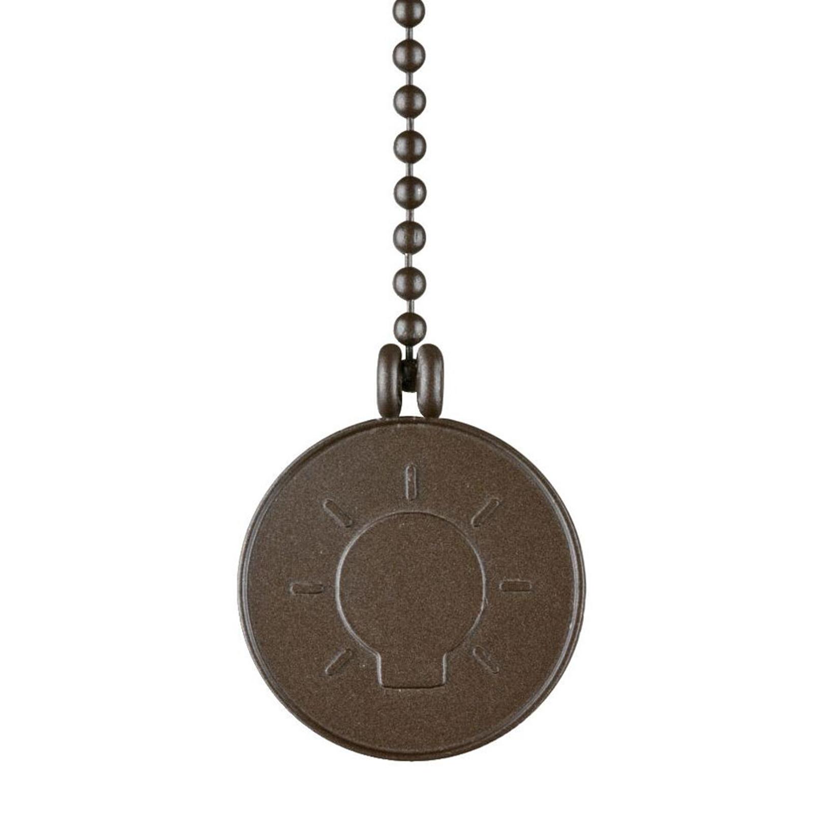 Westinghouse glødepære medaljon trækkæde bronze
