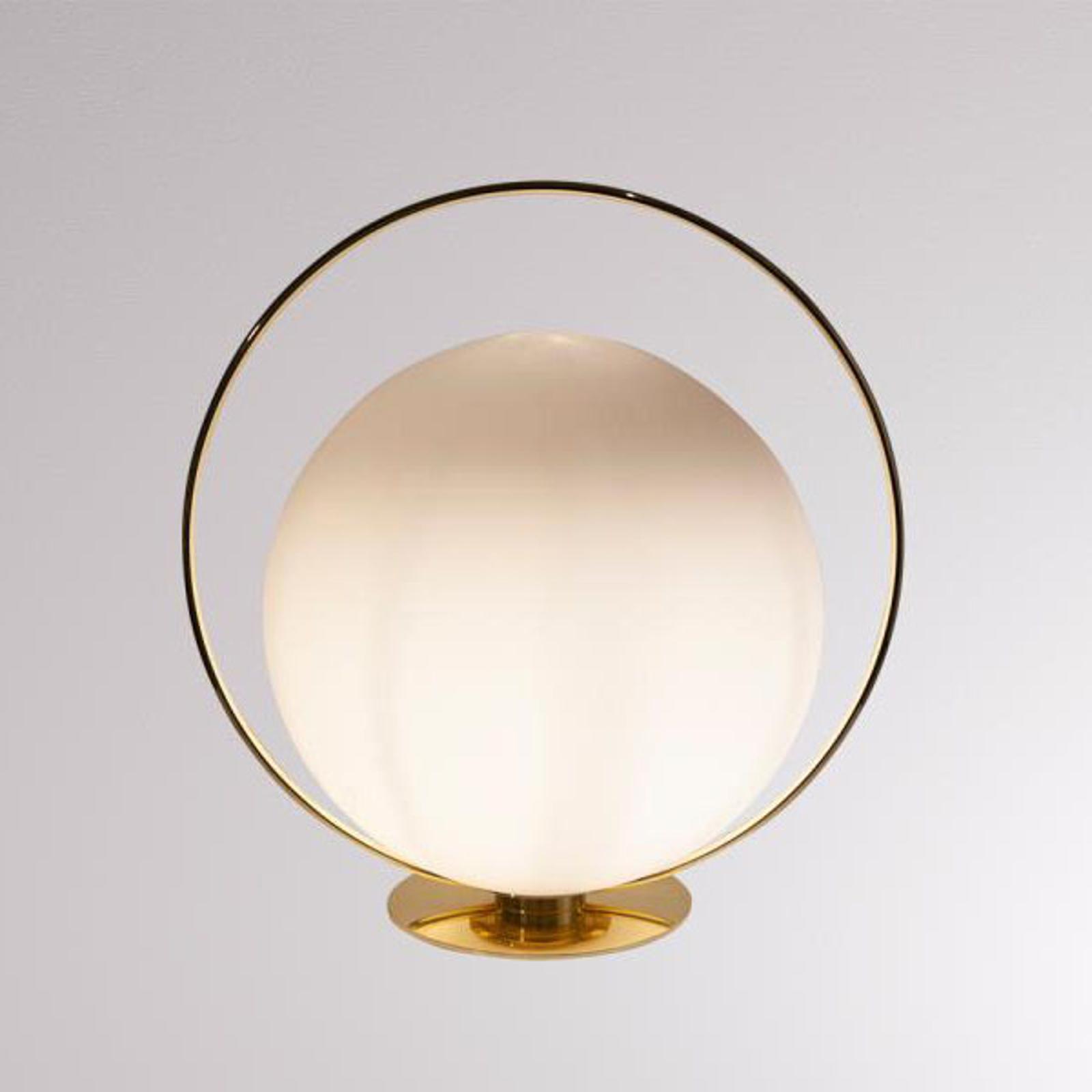 LOUM Tycho tafellamp met messingkleurig ring