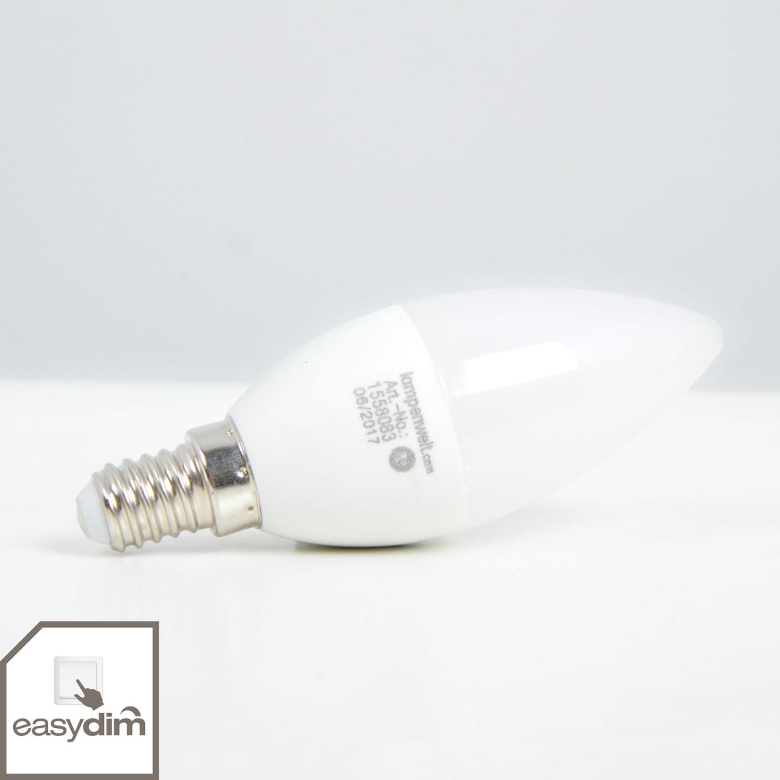 E14 5 W LED-kertepære, varmhvid, easydim