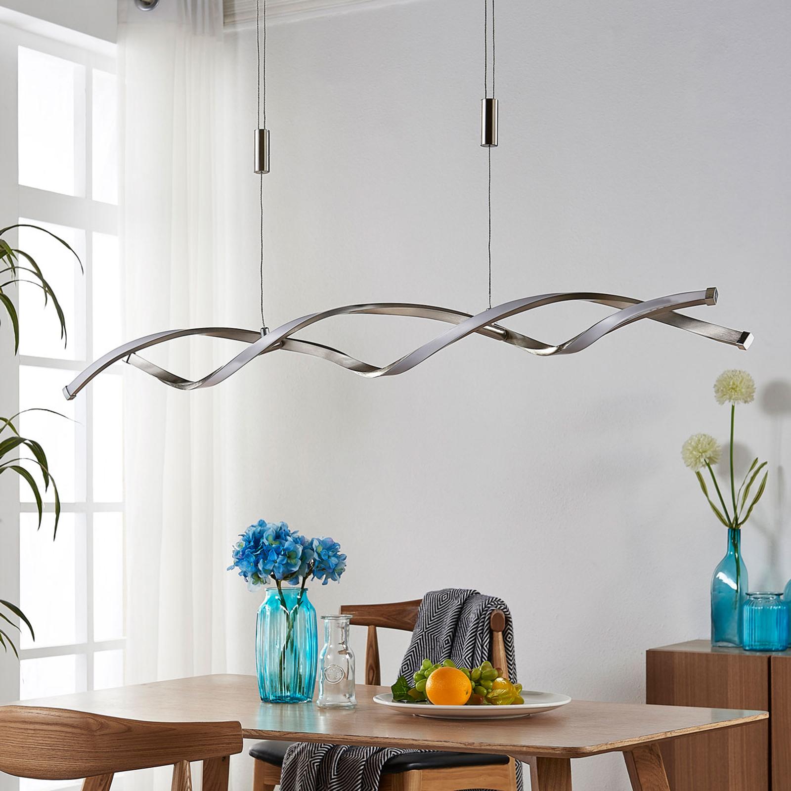 Výškově nastavitelná závěsná LED lampa Auron